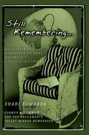 Cover of: Still Remembering... | Shari Edwards