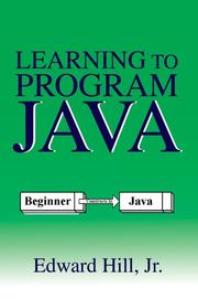 Cover of: Learning to Program Java