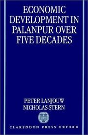 Cover of: Economic development in Palanpur over five decades
