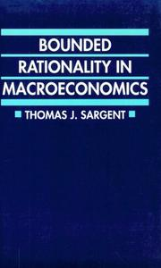 Cover of: Bounded rationality in macroeconomics