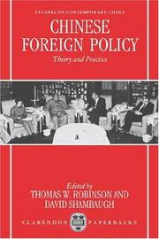 Cover of: Chinese Foreign Policy |
