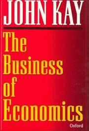 Cover of: The business of economics