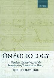 Cover of: On Sociology