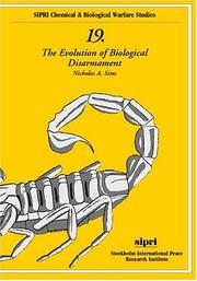 Cover of: The evolution of biological disarmament | Nicholas Roger Alan Sims