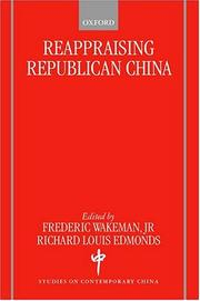 Cover of: Reappraising Republican China
