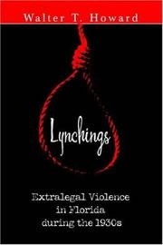 Cover of: Lynchings