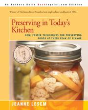 Cover of: Preserving in Today