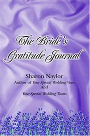 Cover of: The Bride's Gratitude Journal