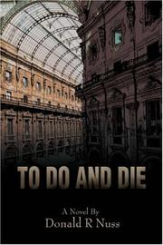 Cover of: To Do and Die | Donald R Nuss