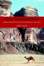 Cover of: That Was Yesterday | Jeff B Copelan