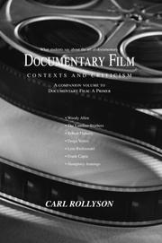 Cover of: Documentary Film | Carl Rollyson