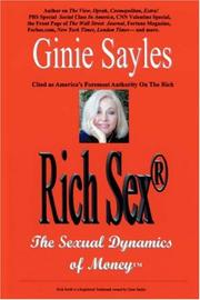 Cover of: Rich Sex® | Ginie Sayles