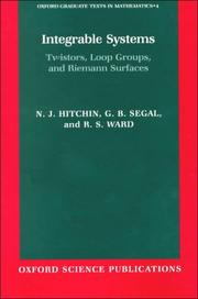 Cover of: Integrable systems