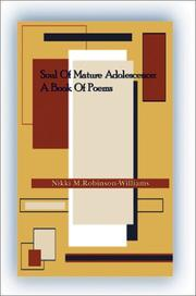 Cover of: Soul of Mature Adolescence | Nikki Robinson-Williams