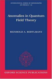 Cover of: Anomalies in Quantum Field Theory