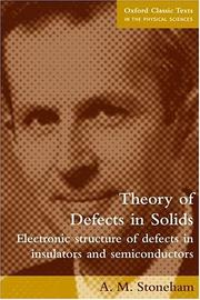 Cover of: Theory of defects in solids
