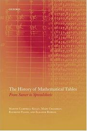 Cover of: The history of mathematical tables |