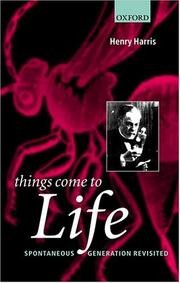 Cover of: Things Come to Life | Henry Harris