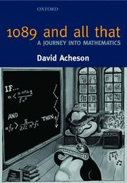 Cover of: 1089 and All That - A Journey into Mathematics