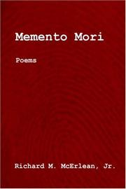 Cover of: Memento Mori | Richard M. McErlean