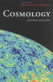 Cover of: Cosmology