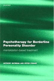 Cover of: Psychotherapy for borderline personality disorder