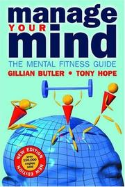 Cover of: Manage your mind by Gillian Butler