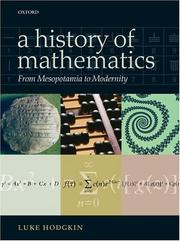 Cover of: A History of Mathematics | Luke Hodgkin