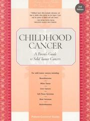 Cover of: Childhood Cancer | Honna Janes-Hodder