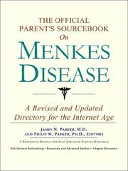 The Official Parents Sourcebook on Menkes Disease
