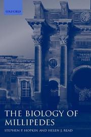 Cover of: The biology of millipedes