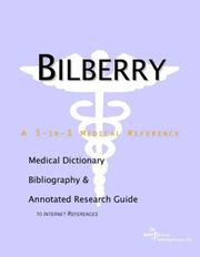 Cover of: Bilberry