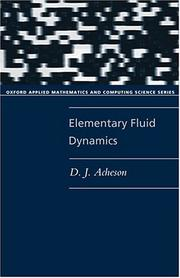 Cover of: Elementary fluid dynamics