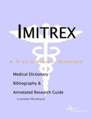 Cover of: Imitrex | ICON Health Publications