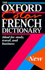 Cover of: The Oxford Color French Dictionary |