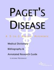 Cover of: Paget's Disease - A Medical Dictionary, Bibliography, and Annotated Research Guide to Internet References