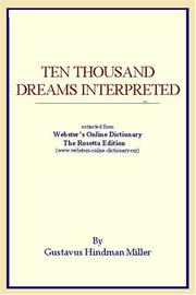 Cover of: Ten Thousand Dreams Interpreted
