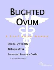 Cover of: Blighted Ovum | ICON Health Publications