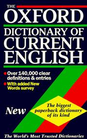 Cover of: The Oxford Dictionary of Current English | Della Thompson