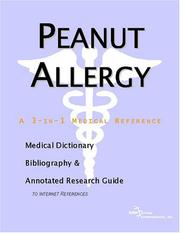 Cover of: Peanut Allergy | ICON Health Publications