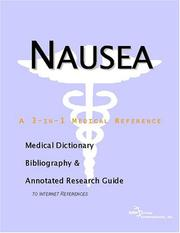Cover of: Nausea - A Medical Dictionary, Bibliography, and Annotated Research Guide to Internet References
