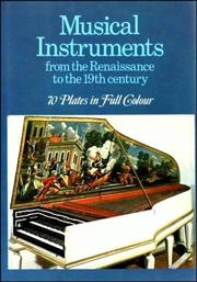 Cover of: Musical instruments from the Renaissance to the 19th century | Sergio Paganelli