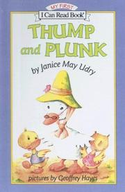 Cover of: Thump and Plunk (My First I Can Read Books