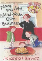 Cover of: Nora and Mrs. Mind Your Own Business (Riverside Kids