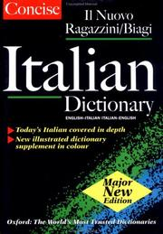 Cover of: Oxford Concise Italian Dictionary |