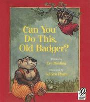 Cover of: Can You Do This, Old Badger? (Little Badger's Adventures)