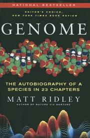 Cover of: Genome: The Autobiography of a Species in 23 Chapters