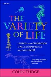 Cover of: The Variety of Life | Colin Tudge