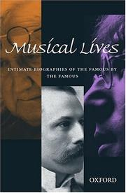 Cover of: Musical lives |