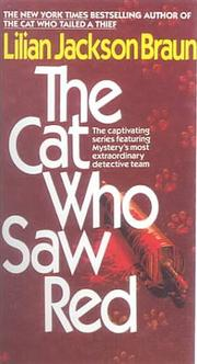 Cover of: The cat who saw red